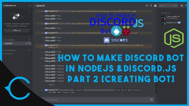[TUT] How to Create a Discord bot in Discord.js using NodeJS [Latest][Part 2]